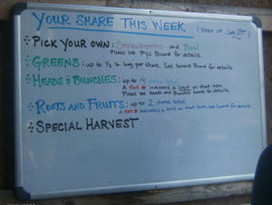 fort hill farm csa board